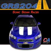 2012-2015 Chevy Sonic Sedan Racer Vinyl Stripe Kit (M-GRS204)