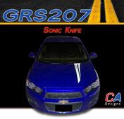 2012-2015 Chevy Sonic Knife Vinyl Stripe Kit (M-GRS207)