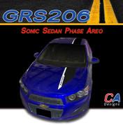 2012-2015 Chevy Sonic Sedan Phase Areo Dual Color Vinyl Stripe Kit (GRS206)