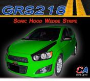 2012-2015 Chevy Sonic Hood Wedge Vinyl Stripe Kit (M-GRS218)
