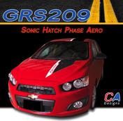 2012-2015 Chevy Sonic Hatch Phase Aero Vinyl Stripe Kits (M-GRS209)