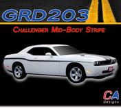 2008-2015 Dodge Challenger Lower Body Stripe Kit (M-GRD203-366)