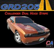 2011-2014 Dodge Challenger Dual Hood Stripe Kit (M-GRD205)