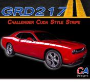 2011-2014 Dodge Challenger Cuda Style Body Line Vinyl Stripe Kit (M-GRD217)