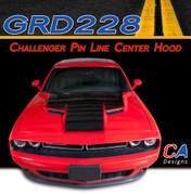 2015-2018 Dodge Challenger Pin Line Center Hood Vinyl Stripe Kit (M-GRD228)
