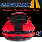 2015-2018 Dodge Challenger Extended Pin Line Center Hood Vinyl Stripe Kit (M-GRD229)