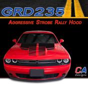 2015-2018 Dodge Challenger Aggressive Strobe Rally Hood Vinyl Stripe Kit (M-GRD235)