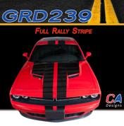 2015-2018 Dodge Challenger Full Rally Vinyl Stripe Kit (M-GRD239)