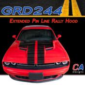 2015-2018 Dodge Challenger Extended Pin Line Rally Hood Vinyl Stripe Kit (M-GRD244)