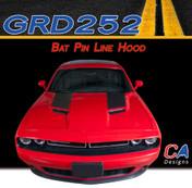 2015-2018 Dodge Challenger Bat Pin Line Hood Vinyl Stripe Kit (M-GRD252)
