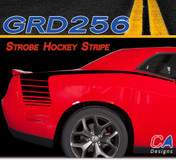 2015-2018 Dodge Challenger Strobe Hockey Stripe Vinyl Stripe Kit (M-GRD256)