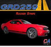 2015-2018 Dodge Challenger Lower Rocker Stripe Vinyl Stripe Kit (M-GRD259)