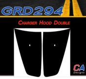 2011-2014 Dodge Charger Double Hood Vinyl Stripe Kit (M-GRD294)
