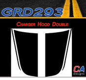 2006-2010 Dodge Charger Double Hood Vinyl Stripe Kit (M-GRD293)