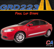 2013-2015 Dodge Dart Final Lap Side Vinyl Stripe Kit (M-GRD223)