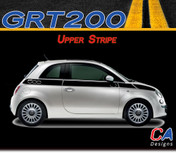 2010-2015 Fiat 500 Upper Side Vinyl Stripe Kit (M-GRT200)