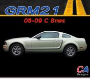 2005-2009 Ford Mustang C Stripe Side Vinyl Stripe Kit (M-GRM21)