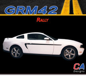 2010-2014 Ford Mustang Rally Side Vinyl Stripe Kit (M-GRM42)