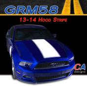 2013-2014 Ford Mustang Hood Vinyl Stripe Kit (M-GRM58)