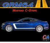 2015-2016 Ford Mustang C-Stripe Side Vinyl Stripe Kit (M-GRM64)
