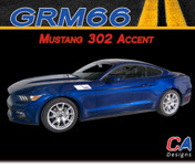 2015-2016 Ford Mustang 302 Accent Side Vinyl Stripe Kit ( M-GRM66)