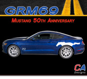 2015-2016 Ford Mustang 50th Anniversary Side Vinyl Stripe Kit (M-GRM69)