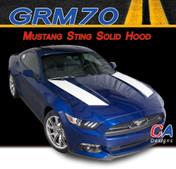 2015-2016 Ford Mustang Sting Solid Hood Vinyl Stripe Kit (M-GRM70)