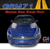 2015 Ford Mustang Sting Strobe Hood Vinyl Stripe Kit (M-GRM71)