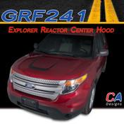 2011-2015 Ford Explorer Reactor Center Hood Vinyl Stripe Kit (M-GRF241)