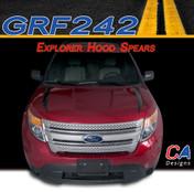2011-2015 Ford Explorer Hood Spears Vinyl Stripe Kit (M-GRF242)