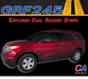 2011-2015 Ford Explorer Dual Rocker Stripe Vinyl Stripe Kit (M-GRF245)