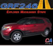 2011-2015 Ford Explorer Mudslinger Stripe Vinyl Stripe Kit (M-GRF246)