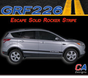 2011-2015 Ford Escape Solid Rocker Vinyl Stripe Kit (M-GRF226)