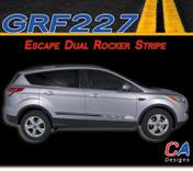 2011-2015 Ford Escape Dual Rocker Vinyl Stripe Kit (M-GRF227)