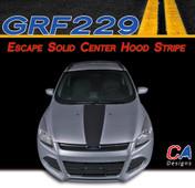 2011-2015 Ford Escape Solid Center Hood Vinyl Stripe Kit (M-GRF229)