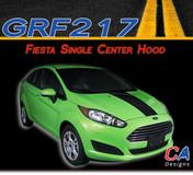 2014-2015 Ford Fiesta Single Center Hood Vinyl Stripe Kit (M-GRF217)