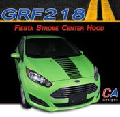 2014-2015 Ford Fiesta Strobe Single Center Hood Vinyl Stripe Kit (M-GRF218)