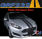 2014-2015 Ford Fiesta Hatchback Rally Vinyl Stripe Kit (M-GRF232)