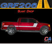 2009-2014 Ford F-150 Slant Drop Vinyl Stripe Kit (M-GRF206)