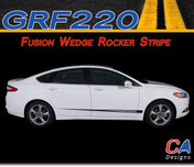 2013-2015 Ford Fusion Wedge Rocker Vinyl Stripe Kit (M-GRF220)