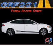 2013-2015 Ford Fusion Rocker Vinyl Stripe Kit (M-GRF221)