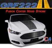 2013-2015 Ford Fusion Center Hood Strobe Vinyl Stripe Kit (M-GRF222)