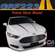 2013-2015 Ford Fusion Hood Spears Vinyl Stripe Kit (M-GRF223)