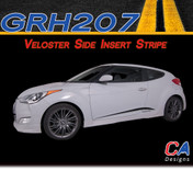 2011-2015 Hyundai Veloster Side Insert Vinyl Stripe Kit (M-GRH207)