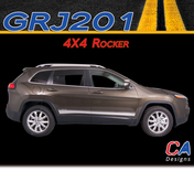 2015 Jeep Cherokee 4X4 Rocker Vinyl Stripe Kit (M-GRJ201)
