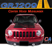 2007-2015 Jeep Patriot Center Hood Mudslinger Vinyl Stripe Kit (M-GRJ209)