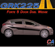 2014-2015 Kia Forte 5 Door Duel Wedge Vinyl Racing Stripe Kit (GRK225)