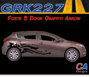 2014-2015 Kia Forte 5 Door Graffiti Arrow Vinyl Racing Stripe Kit (M-GRK227)
