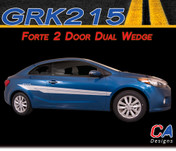 2014-2015 Kia Forte 2 Door Dual Wedge Vinyl Racing Stripe Kit (M-GRK215)
