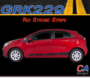 2011-2015 Kia Rio Strobe Vinyl Racing Stripe Kit (M-GRK229)